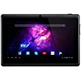 Alldaymall Tablet, A33 Quad Core ( 7 inch, 8GB Storage, Android 4.4 KitKat, Wi-Fi, Bluetooth, 3D Game, Google Play Pre-intalled ) Black