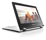 Lenovo Yoga 300 11.6 inch HD Touchscreen Notebook (Intel Celeron N2840 2.16 GHz, 2 GB RAM, 32 GB eMMC, WLAN, Bluetooth, Camera, Integrated Graphics, Windows 8.1 - White