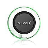 Fast Wireless Charger, aLLreLi Quick Charge 3.0 QI Charging Pad for Samsung Galaxy S7 / S7 Edge / S6 Edge Plus, Note 5 and All Qi-Enabled Devices [Adaptive Fast Charger NOT Included]