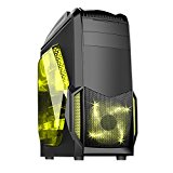 Fierce Medusa Spectre Fast Powerful Intel Core i7 4790 4GHz Quad Core Gaming Gamer Desktop PC Computer (Nvidia GTX 1050 Ti 4GB Graphics Card, 16GB RAM, 1TB Hard Drive (Sandstorm Red - 295090)