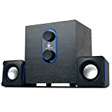 GOgroove SonaVERSE LBr 2.1 USB Speaker System with Bass Subwoofer and Dual Stereo Satellite Speakers for Computers , TVs , Smartphones and More