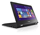 Lenovo Yoga 300 11.6 inch HD Touchscreen Notebook (Intel Celeron N2840 2.16 GHz, WLAN, Bluetooth, Camera, Integrated Graphics, Windows 8.1 - Black