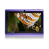 JINYJIA 7 Inch Android Google Tablet PC 4.2.2 8GB WiFi Dual Core Dual Camera Capacitive Touch Screen Allwinner A23 DDR3 1.5GHz 512MB Purple Color