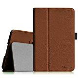 Fintie Lenovo IdeaTab A8-50 8-Inch Android Tablet Folio Case - Premium Leather Cover Stand With Stylus Holder - Brown