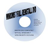 WINDOWS 7 HOME PREMIUM BASIC 32 & 64 BIT RE-INSTALL & RECOVERY DISC