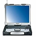 Fully ruggardised refurbished Panasonic Toughbook CF-29 Touchscreen Laptop with DVD drive, WIFI, SERIAL RS232 port and Parallel port with Windows XP Professional and 2 years warranty