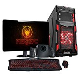 Fierce VULTURIS Gaming PC - 4.4GHz 880K Quad Core, NVIDIA GTX 750 Ti 2GB Graphics Card, 16GB RAM, 1TB Hard Drive, Fast Desktop Computer Bundle - HDMI/USB3 - 230142