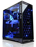Cyberpower Gaming Centurion Ultra LUXE 1080 - Gaming PC (Intel i7 6700K 4.4GHZ Quad Core OC CPU, Nvidia GTX 1080 8GB, 32GB RAM, 480GB SSD, 1TB HDD, WIFI, Windows 10, Corsair H100 Water Cooling, Blue)