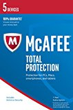 McAfee 2017 Total Protection 5 Device [Online Code]