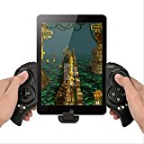Megadream® Newest Game Controller Portable Bluetooth Wireless Gamepad Joystick Control for Android Samsung Galaxy Note 3 S5 HTC Sony Xperia LG and iOS iPhone 6 5S 5C 5 iPad 5 4 iPod, Supports Up to 10