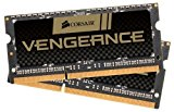 Corsair CMSX8GX3M2C2133C11 Vengeance Performance 8 GB (2 x 4 GB) DDR3L 2133 MHz CL11 204 Pin SODIMM Performance Notebook Memory Kit - Black