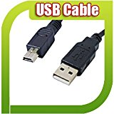 High Quality Speed 3M USB 2.0 A Male to Mini 5 Pin Black DATA Standard Plug Cable Lead 3 M Meter Metre for PC Laptop Desktop USB Card Reader Caddy MP3 MP4 PSP PS3 PDA GPS Digital Camera HUB Playstation 3 Controller