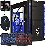 Freshtech AMD 4.1Ghz 8gb Ram 1tb HDD FTS Gaming PC Desktop Computer Galaxy 3 HDMI Gigabyte F2A78M-HD2 Motherboard 8GB DDR3 1600mhz Performance Ram Onboard AMD Radeon HD 8470D EVGA 500w 80 Plus Certified 40a Single Rail Power Supply 1tb Western Digital WD10EZEX 64mb Cache 7200rpm HDD
