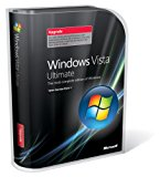 Windows Vista, Ultimate Edition with Service Pack 1, Upgrade Version (32-bit CD and 64-bit DVD) (PC)