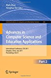 Advances in Computer Science and Education Applications: International Conference, CSE 2011, Qingdao, China, July 9-10, 2011, Proceedings, Part II (Communications in Computer and Information Science)