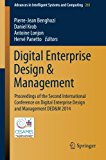 Digital Enterprise Design & Management: Proceedings of the Second International Conference on Digital Enterprise Design and Management DED&M 2014 (Advances in Intelligent Systems and Computing)